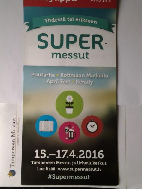 Tampereen Messut lähettivät 10 lippua arvottavikseni lukijoille. Random.org on pyörinyt. Sähköpostia lähtee lipun voittaneille.