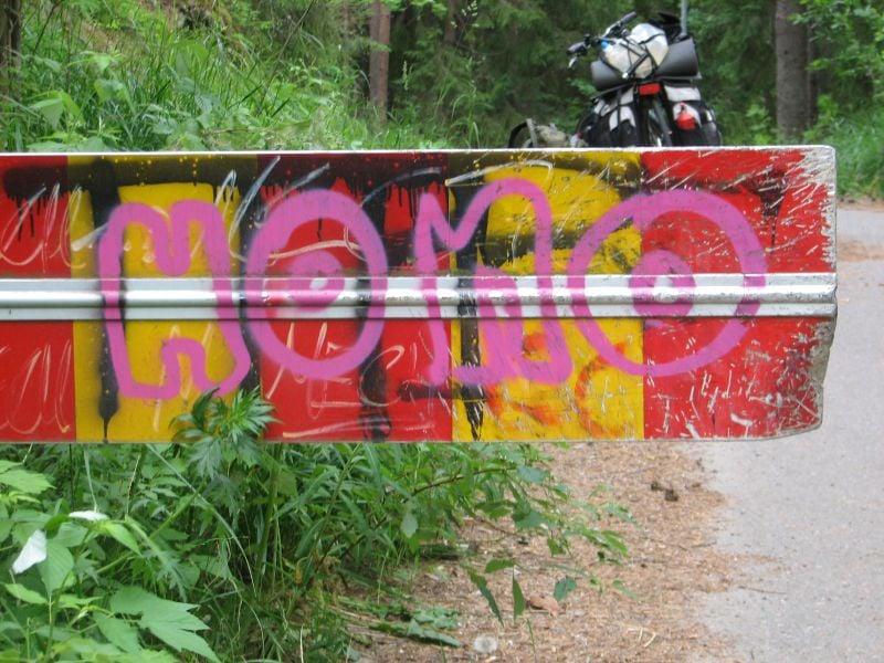 Iloinen sateenkaareva kuva aikaisemmalta pyöräretkeltäni Asikkalasta