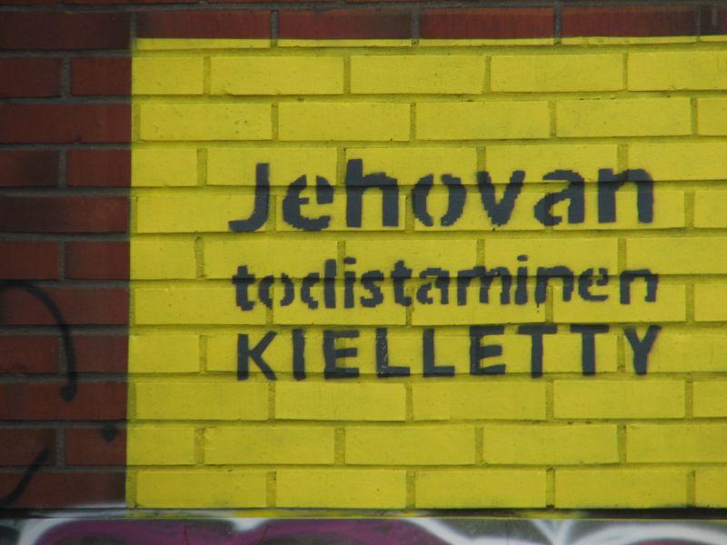 Jehovan todistaminen kielletty