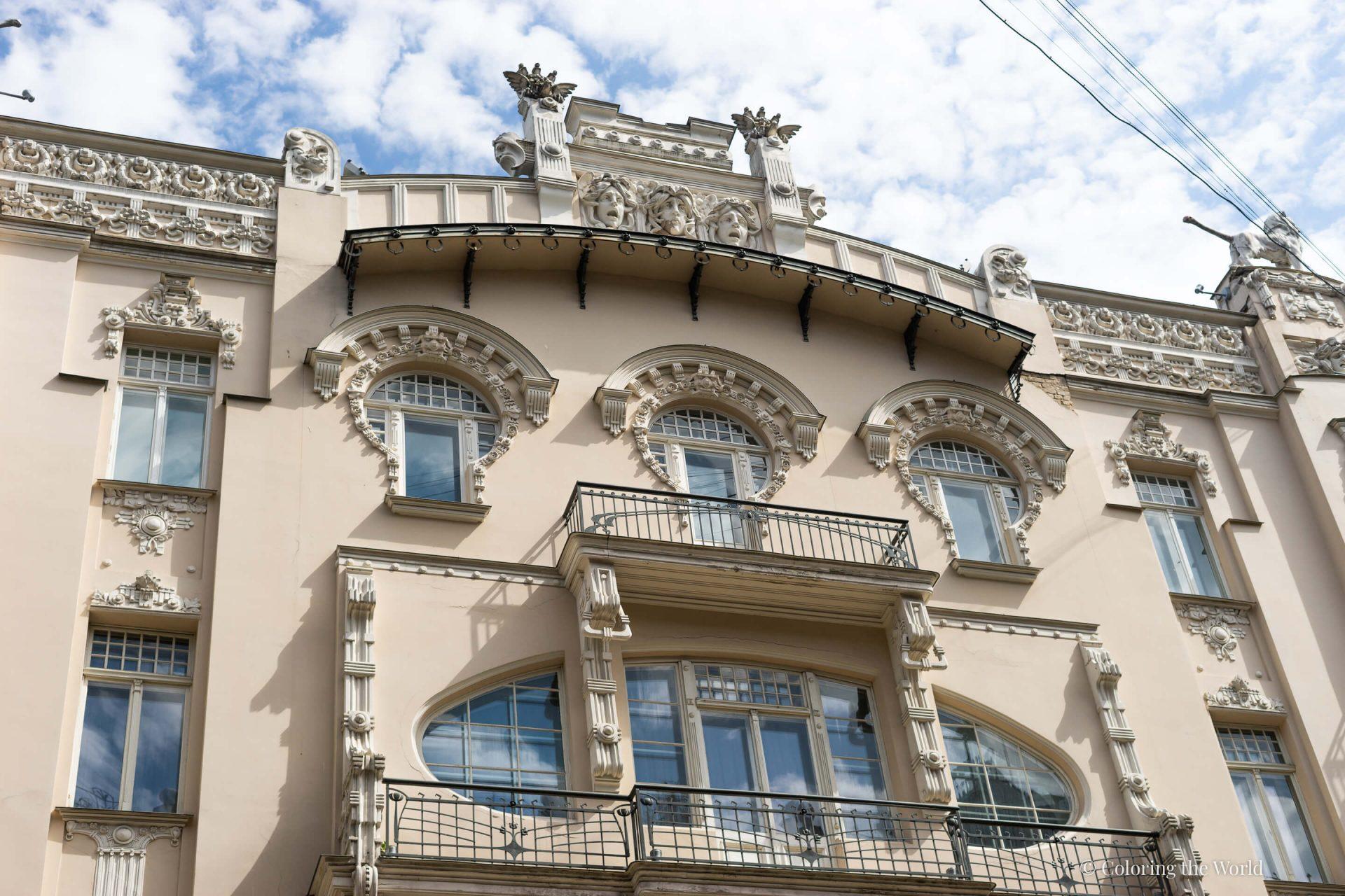 Jugend-alueen arkkitehtuuria Riiassa