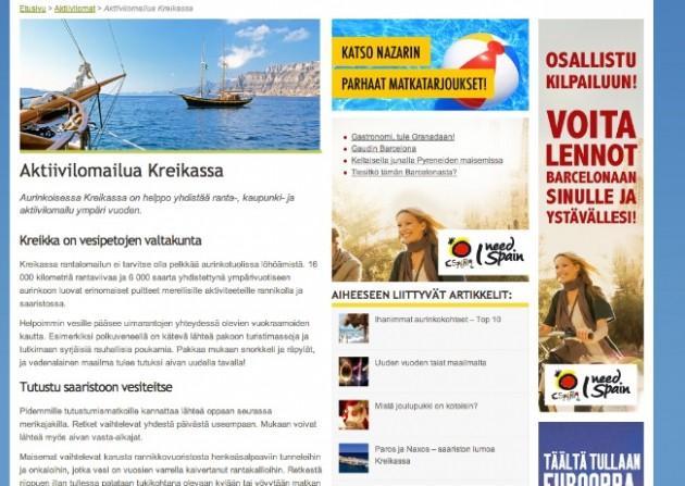Rantapallon Aktiivilomailua Kreikassa artikkeli