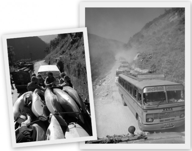 Bussimatkalla Nepalissa