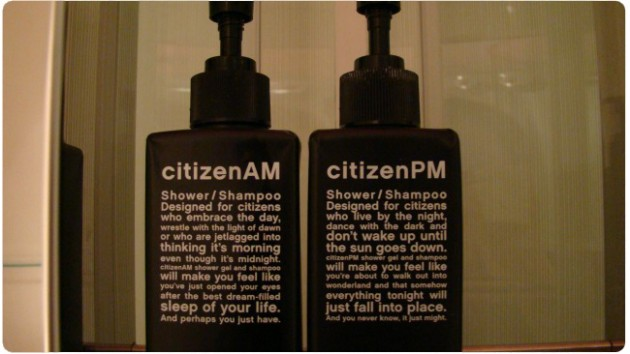 Toiletries in the Citizen M
