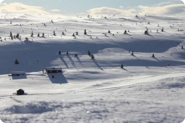 Maisemia Pellestovalta Lillehammerin läheisyydestä