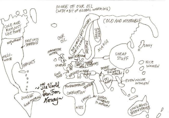 Maailma Norjasta käsin nähtynä