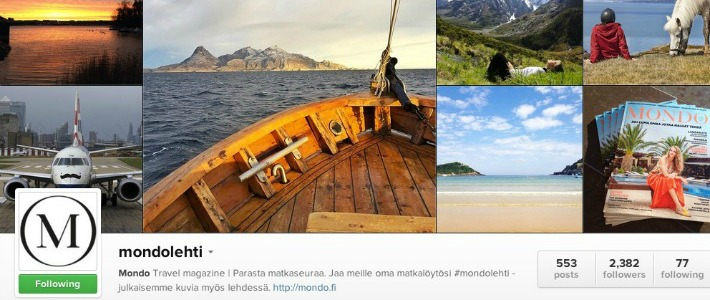 Mondo Instagramissa I Destination Unknown