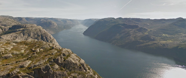 Preikestolen via Google Maps I Destination Unknown