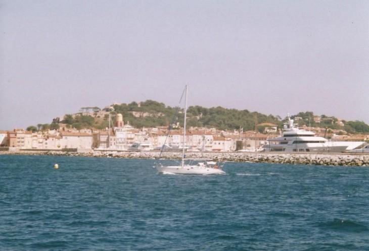 Saint Tropez mereltä nähtynä Photo Copyright Elämää ja Matkoja
