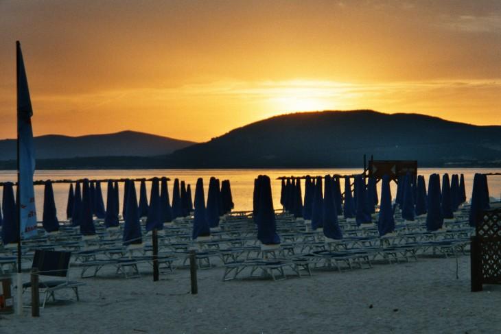 Toukokuinen ilta Lido-rannalla Algherossa Photo copyright Elämää ja Matkoja