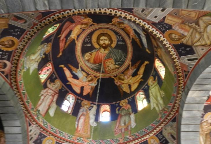 Kirkon bysanttisia maalauksia. Photo copyright Elämää ja Matkoja