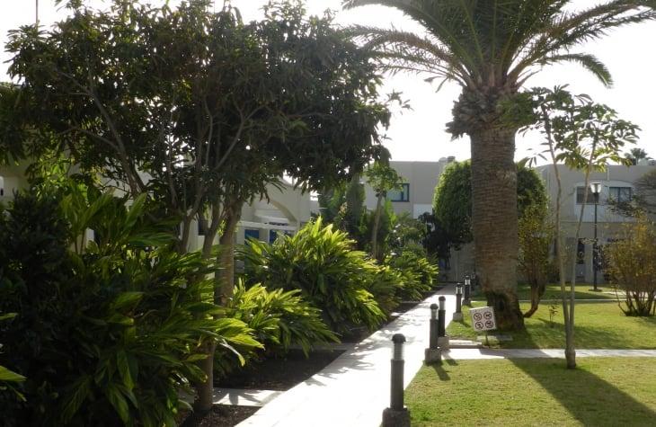 Playa Felizin alue on hyvin hoidettu ja siisti. Photo copyright Elämää ja Matkoja