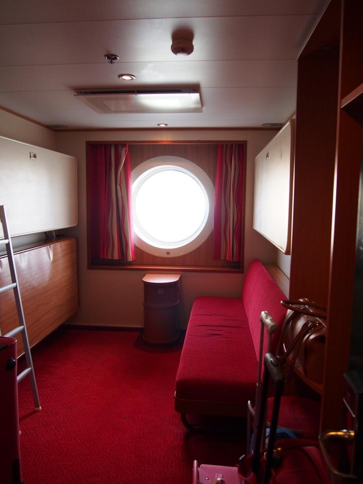 A-hytti 5. kannella Tallink Baltic Queenilla. Photo copyright Elämää ja Matkoja