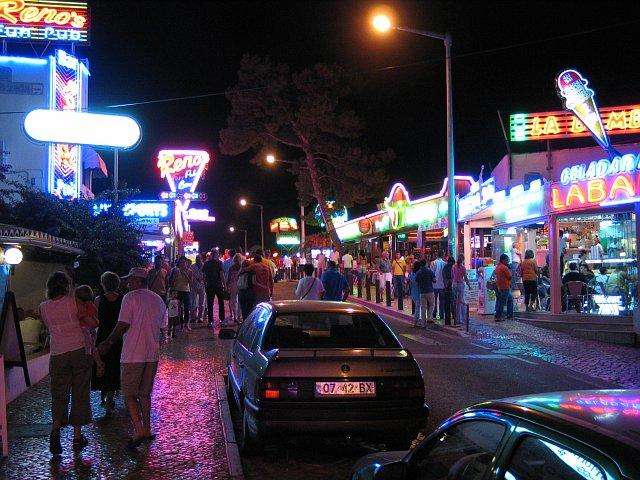 Albufeira the strip
