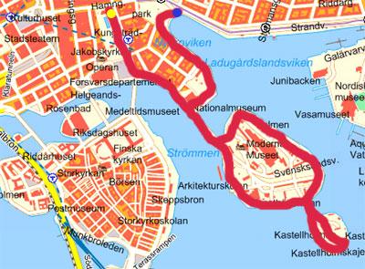 Karta Walk in Stockholm