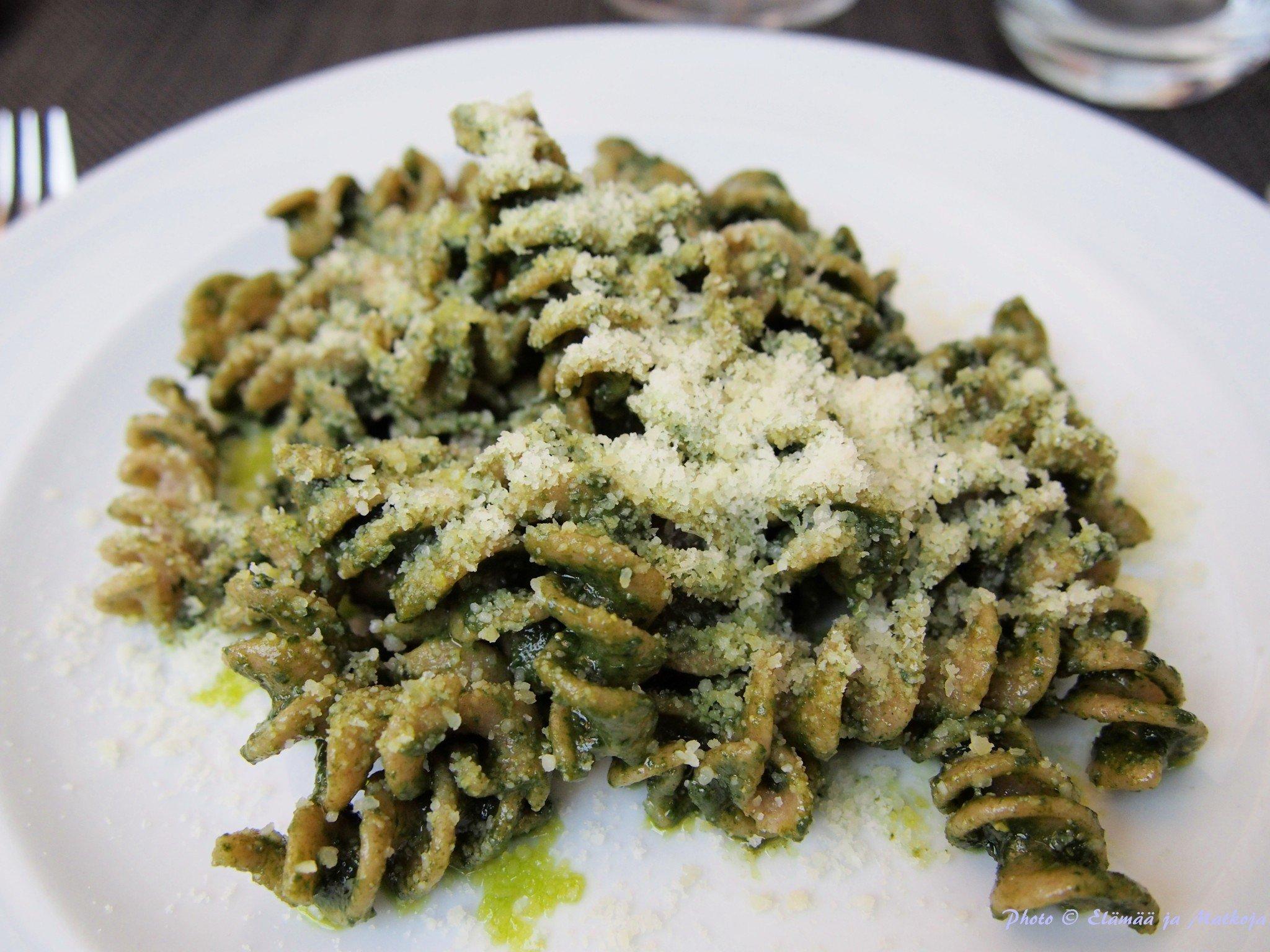 Best pasta i've had in a long time - Grazie mille! Photo © Elämää ja Matkoja