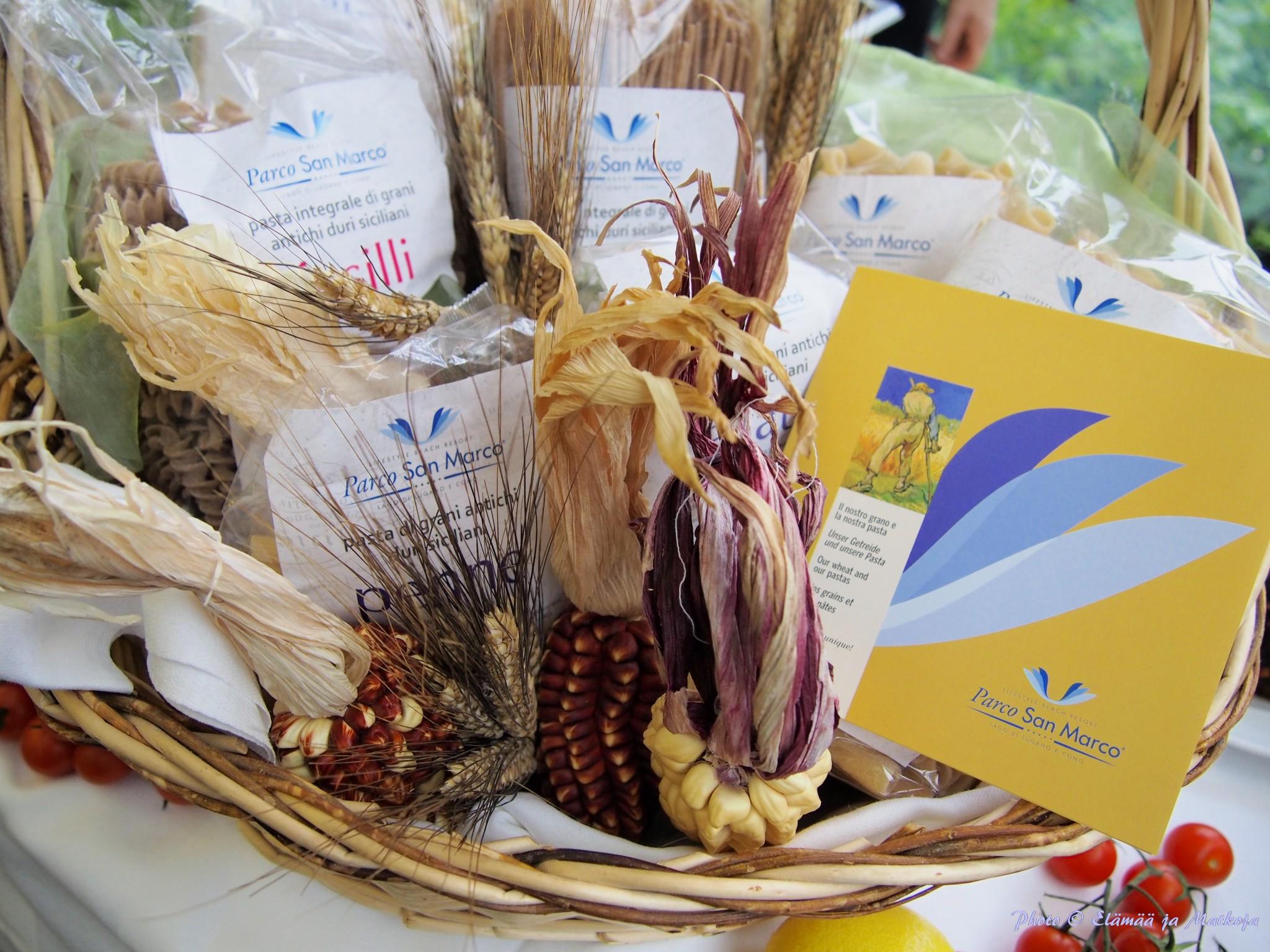 Parco San Marcon pasta valmistetaan semolina viljasta käsin perinteisin menetelmin Damigella tilalla Sisiliassa. Photo © Elämää ja Matkoja