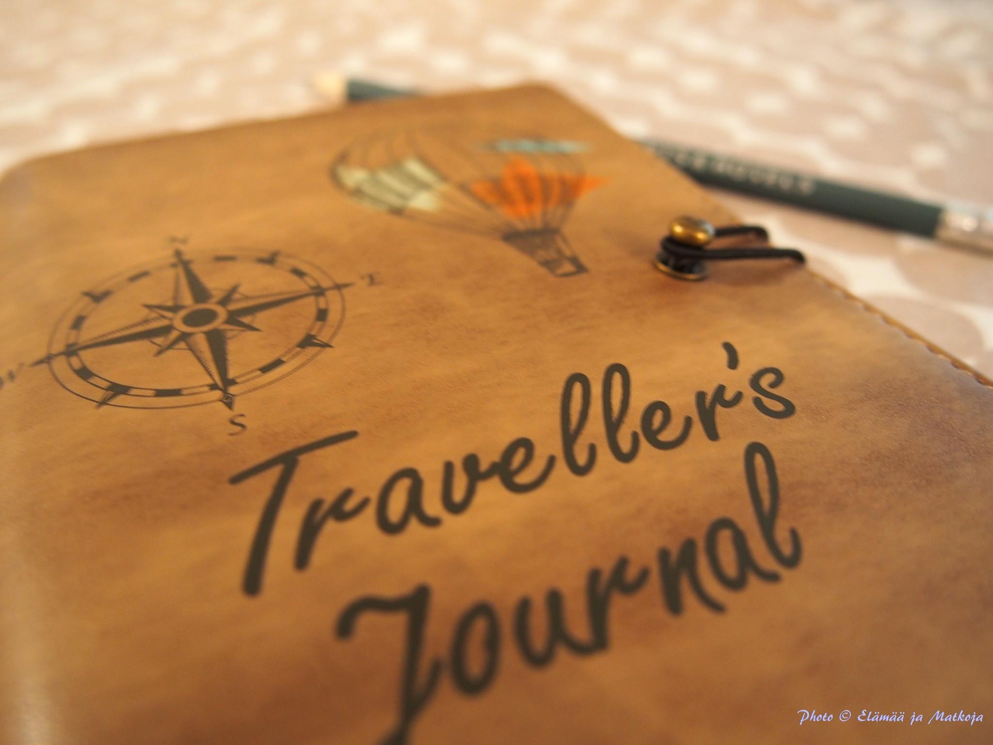 Traveller's journal Photo © Elämää ja Matkoja matkablogi