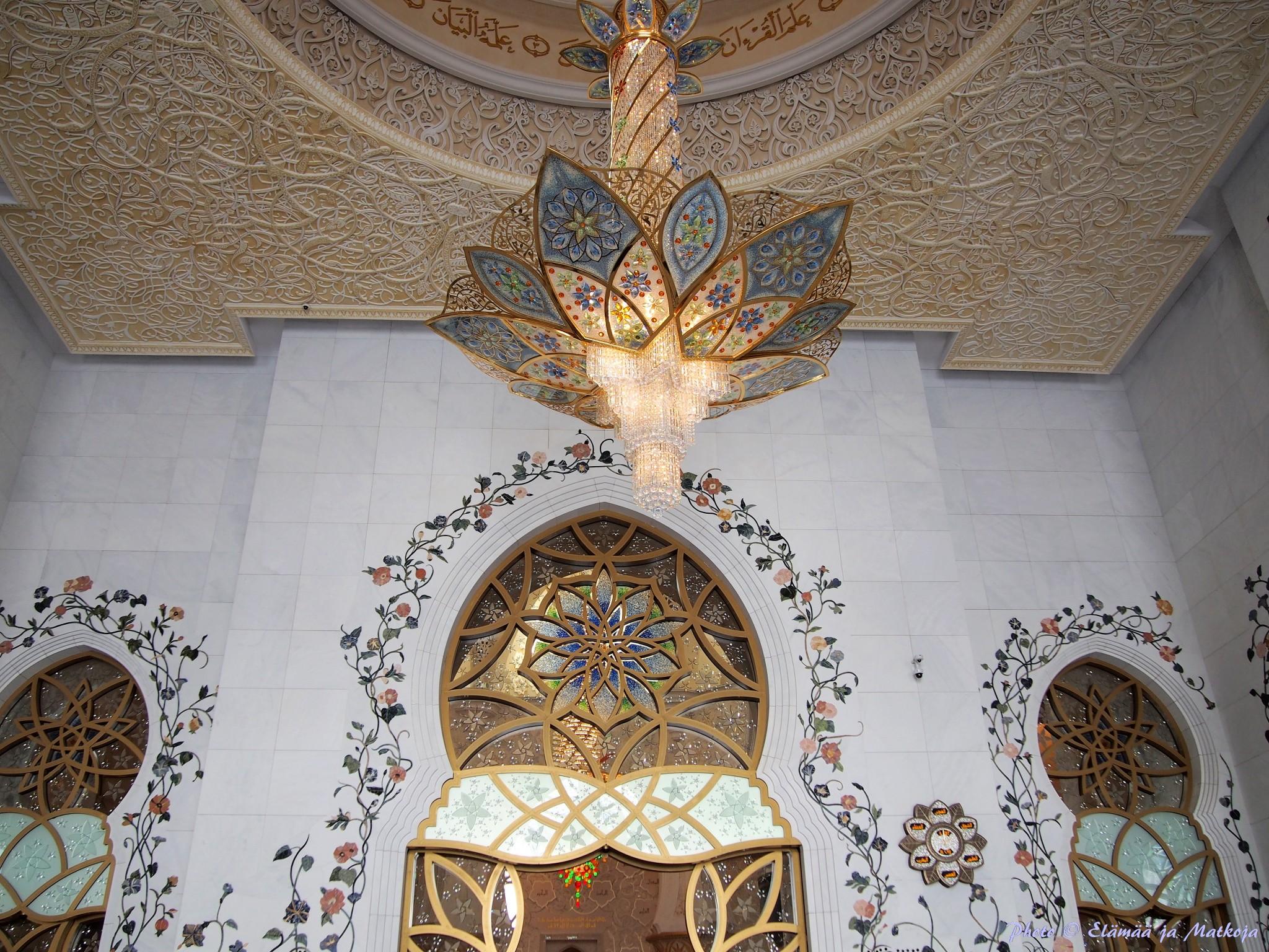 Sheikh Zayed Grand Mosque Abu Dhabi UAE 11 Photo © Elämää ja Matkoja