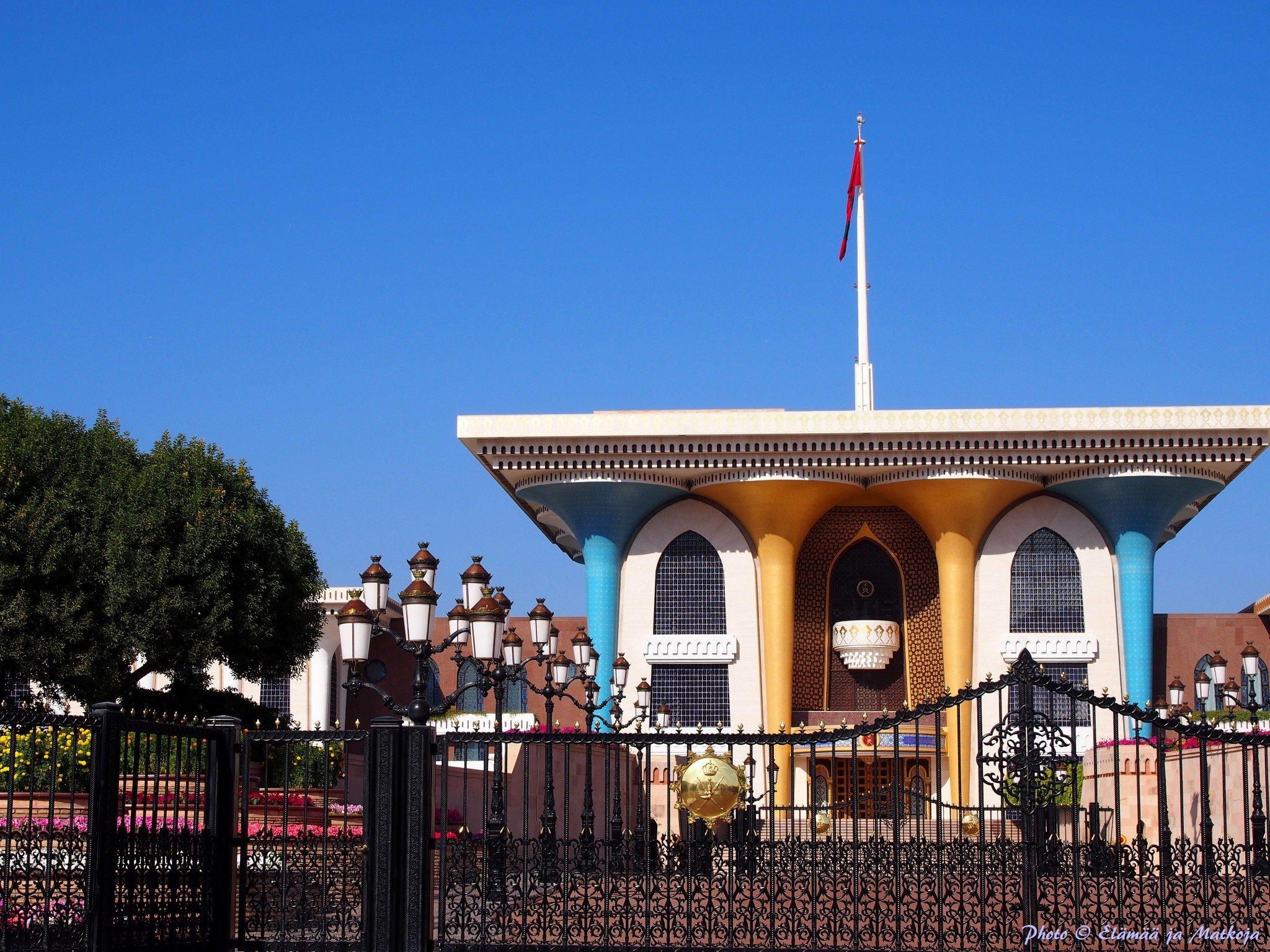 Oman Masqat Al Alam Photo © Elämää ja Matkoja