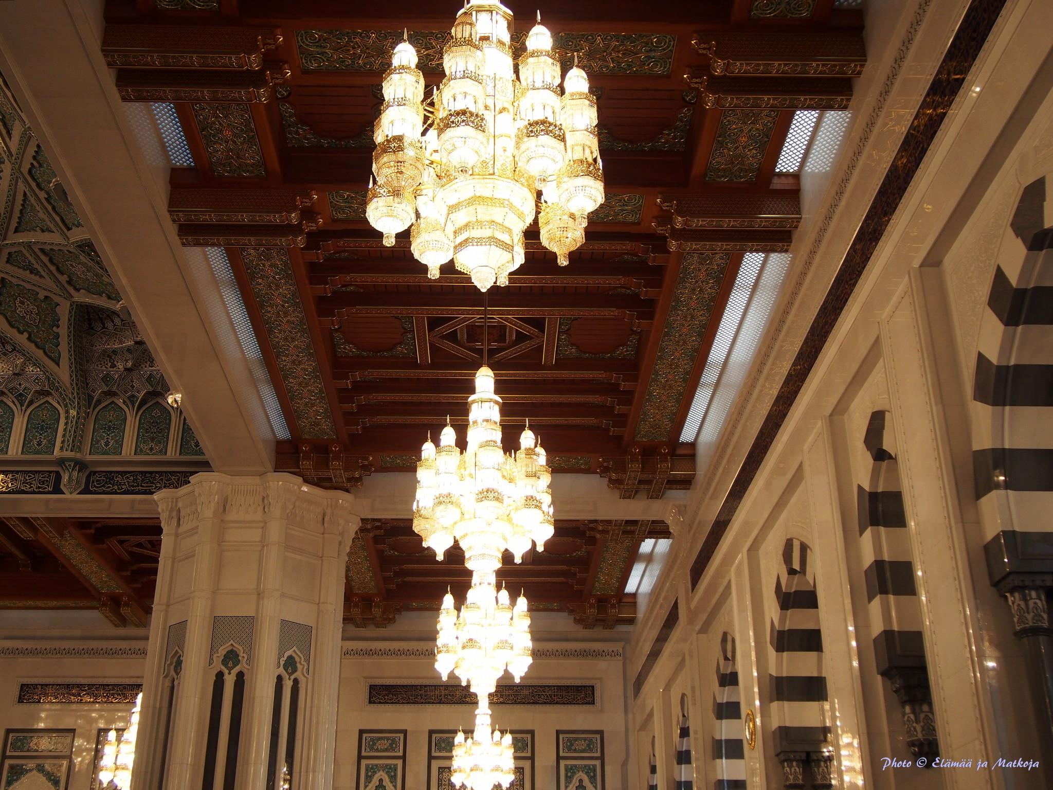 Oman Masqat Sultan Qaboos suurmoskeija pääsali Photo © Elämää ja Matkoja