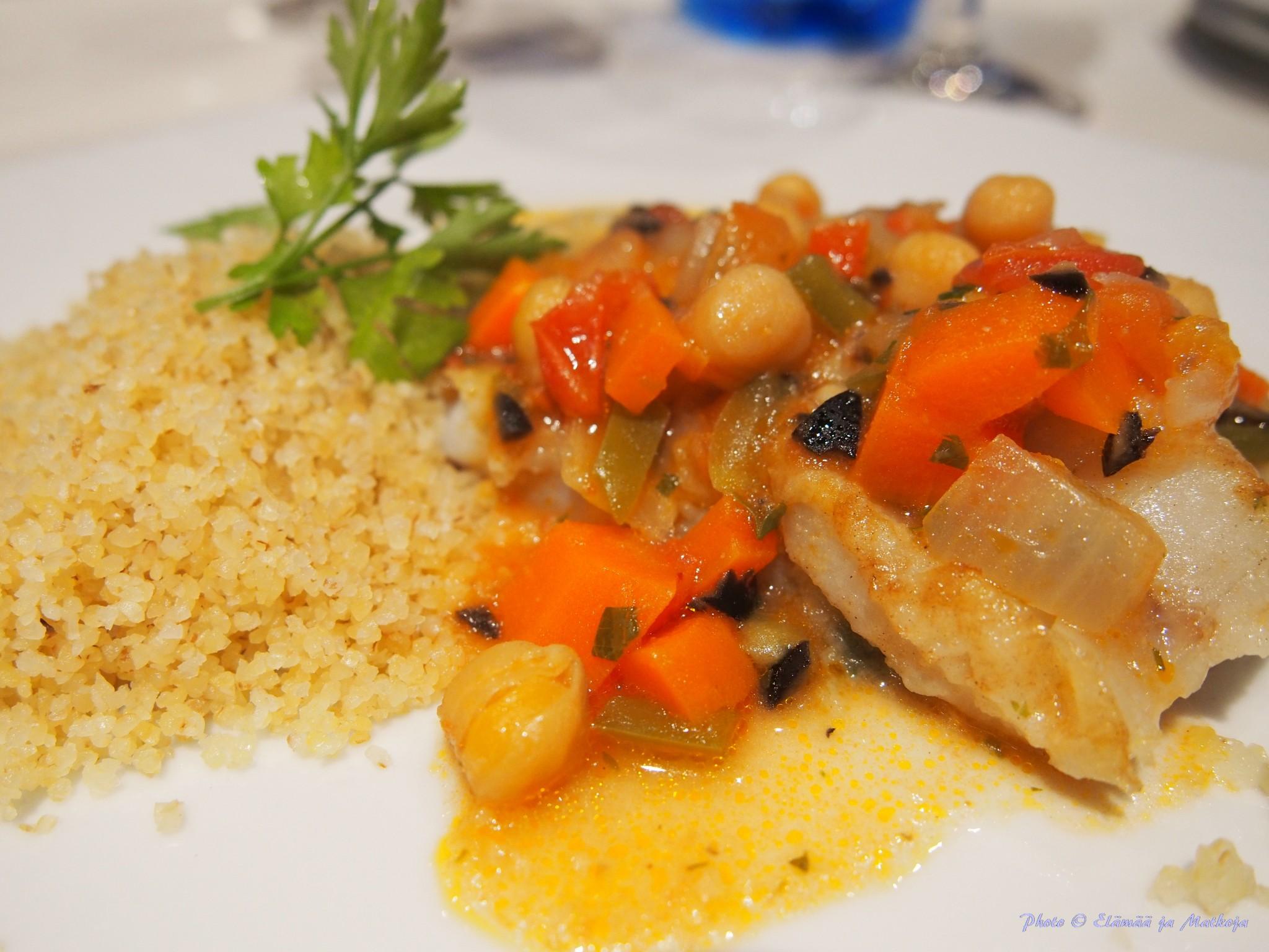 Pääruuaksi päivän kala-annos: Fish stew essaouira style