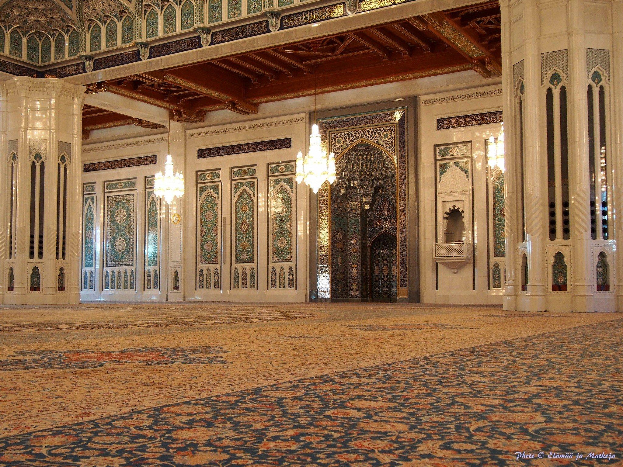 Sultan Qaboos mosque interior Photo © Elämää ja Matkoja