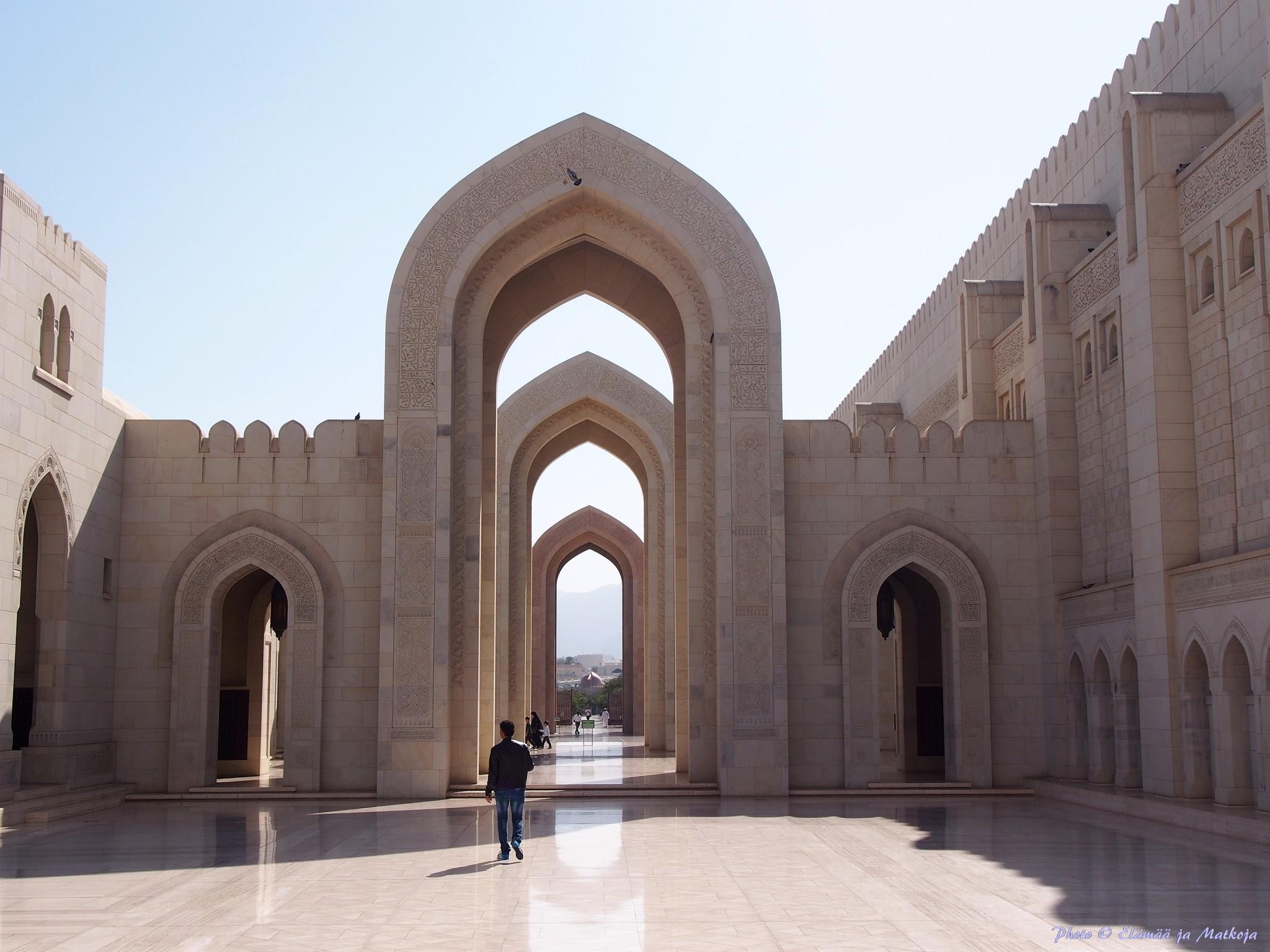 Sultan Qaboos suurmoskeija Oman 2 Photo © Elämää ja Matkoja