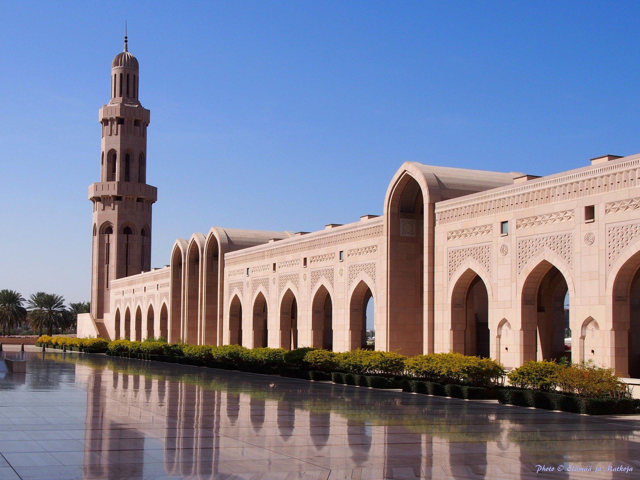 Sultan Qaboos suurmoskeija Oman Photo © Elämää ja Matkoja