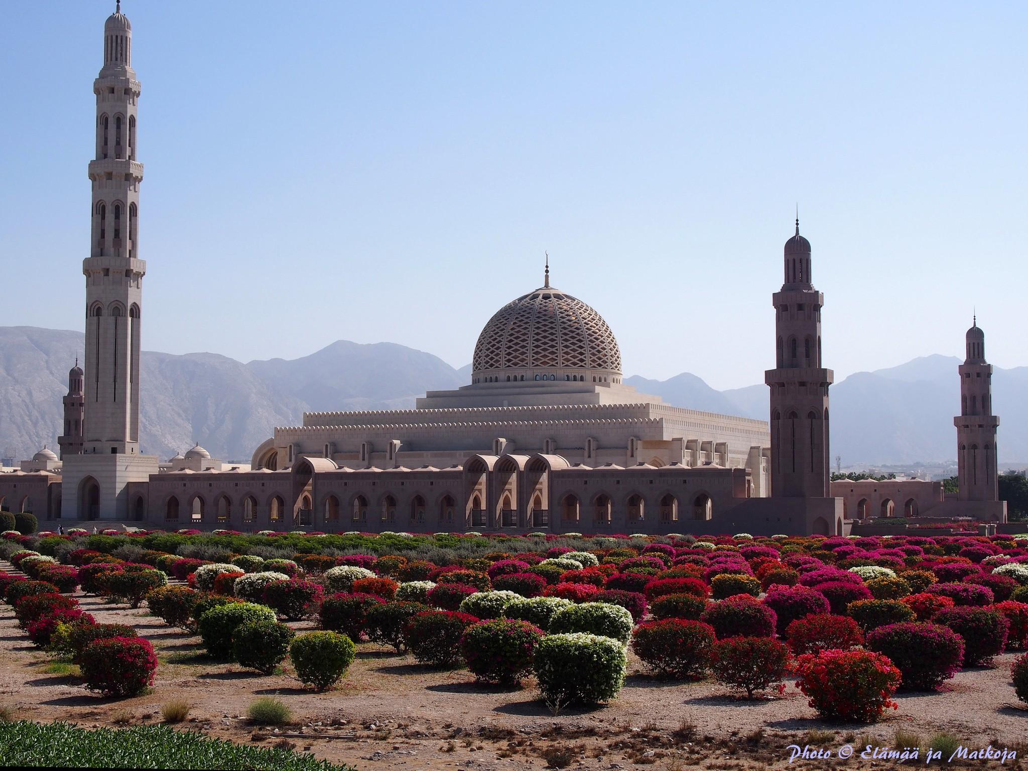 Sultan Qaboos suurmoskeija Photo © Elämää ja Matkoja