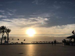Agadir Marokko ranta sää talvi