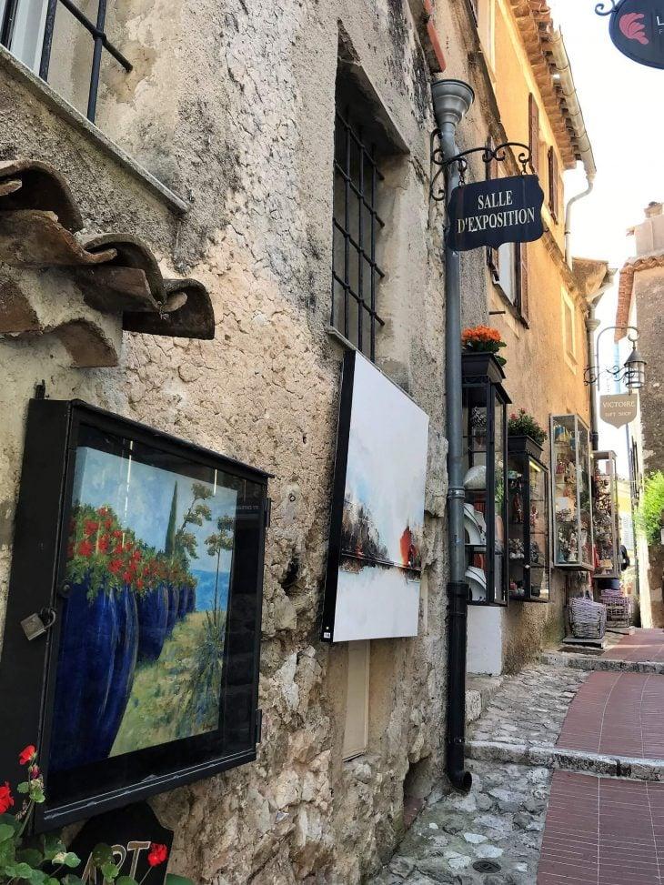 Ranska, Eze vuoristokylä, taidekauppoja