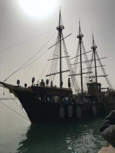 Marokko Agadir nähtävää Marina Merirosvolaiva risteily meriseikkailu, laiva merellä