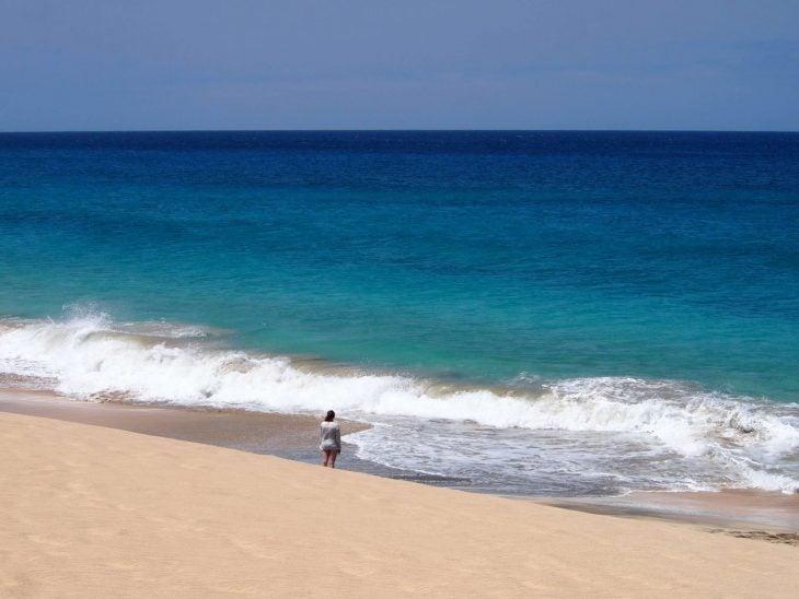 Kap Verde hiekkadyynejä ja rantaa