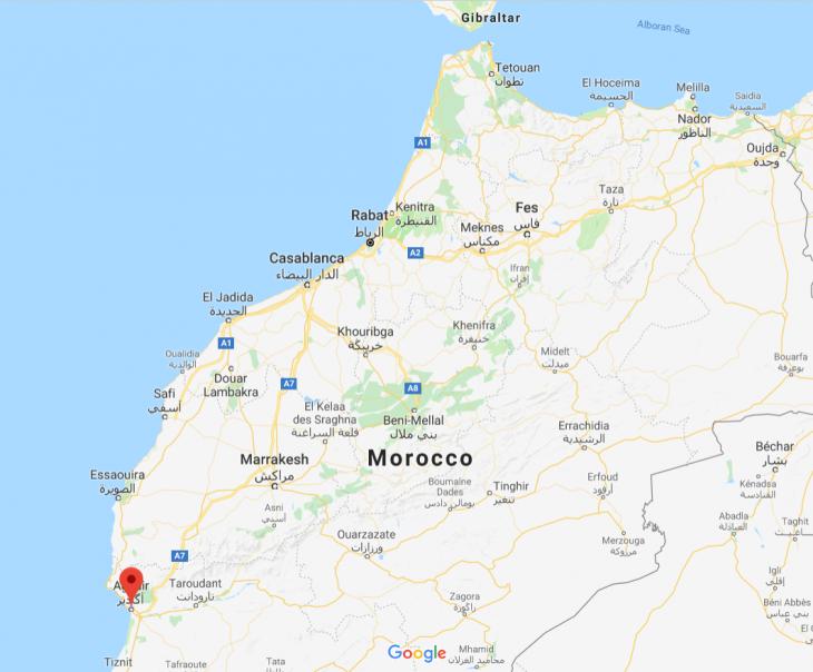 Marokko kartta