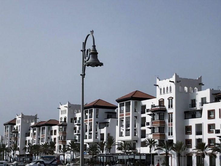 Marokko Agadir nähtävää, Marina huvivenesataman aluetta, liikkeitä ja hyviä ravintoloita