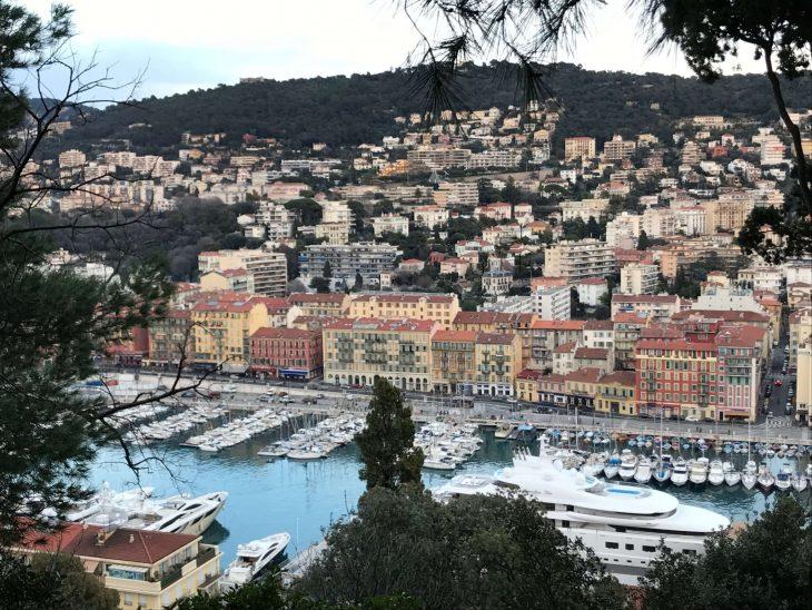 French Riviera, Nice harbour from the castle hill, Ranskan Riviera Nizza nahtavaa satama kukkulalta