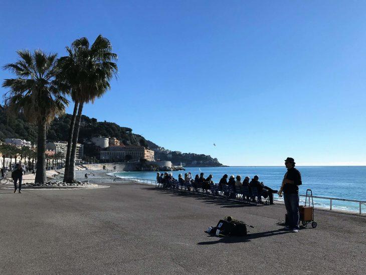 French Riviera, Nice Promenaide des Angles, Ranskan Riviera Nizza nahtavaa rantabulevardi katusoittaja