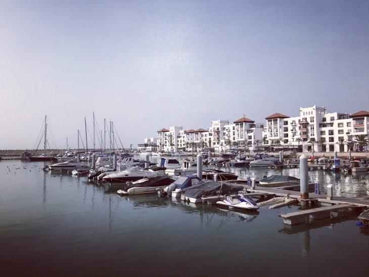 Marokko Agadir nähtävää, huvivenesatama Marina