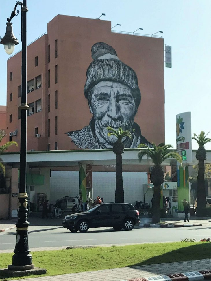 Marokko nähtävää Marrakech kerrostalo graffiitti, kokemukia vanha kaupunki