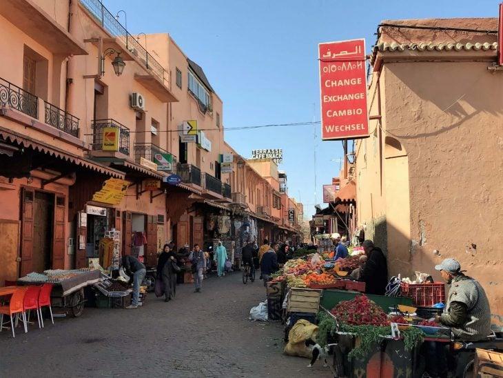 Marokko Marrakech nahtavaa medina kokemuksia vanha kaupunki