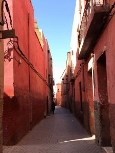 Marokko Marrakech nähtävää - Medinan kujilla