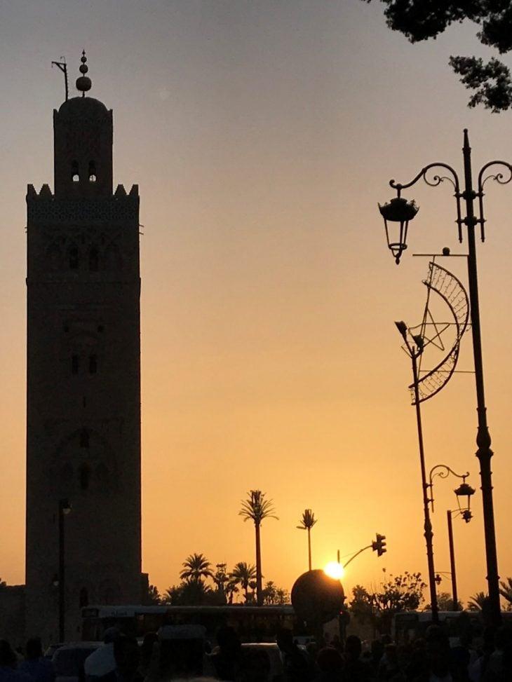 Koutoubia moskeija Marrakech medina, kokemuksia Marokko
