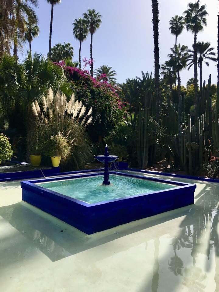Marokko Marrakech medina nähtävää Majorelle puutarha YSL Yves Saint Laurent, kokemukia vanha kaupunki Marokko