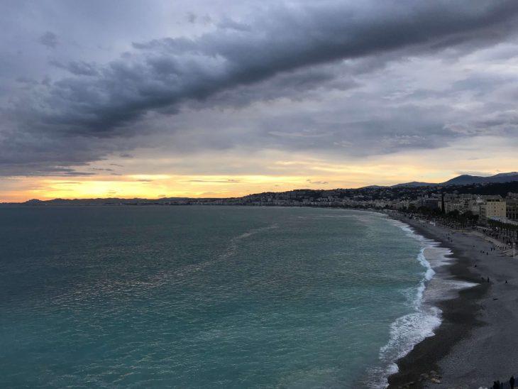 French Riviera, Nice beach, Ranskan Riviera, Nizza rantaa