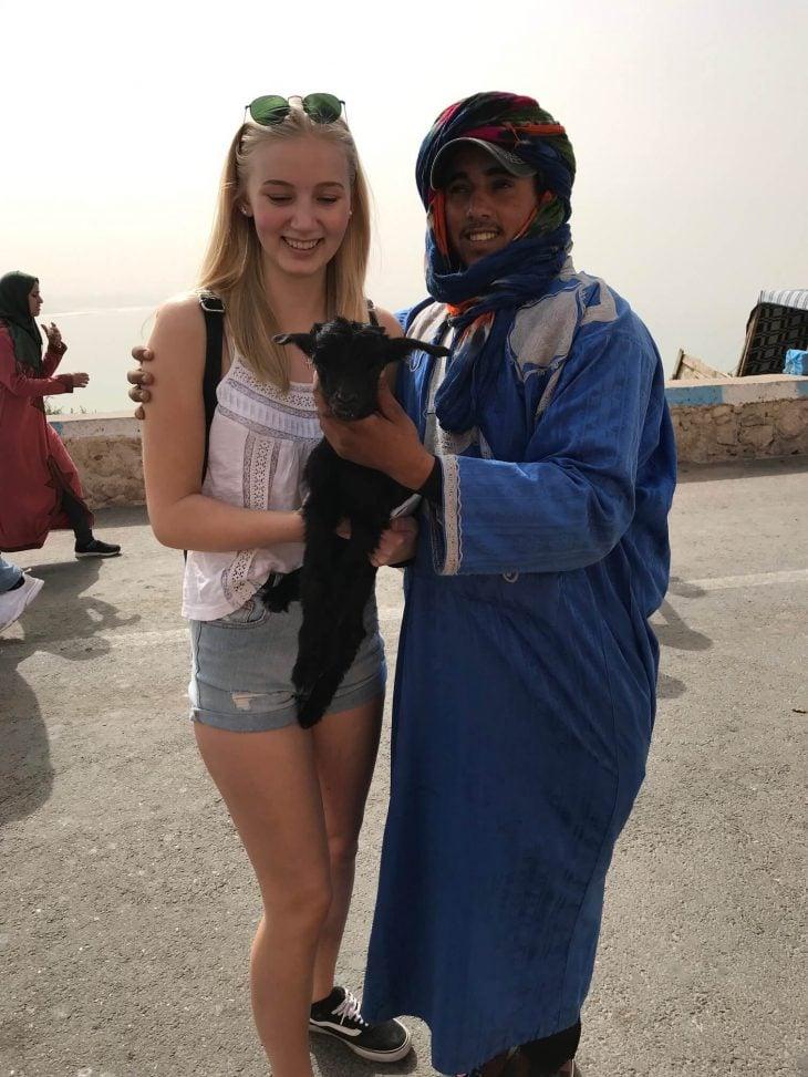 Marokko Agadir nähtävää: vuori kasbah näköalat valokuvaus vuohi kili kamelit Oufella