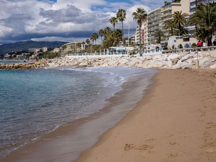 Ranskan Riviera nähtävää, Cannesin rantaa aivan keskustassa
