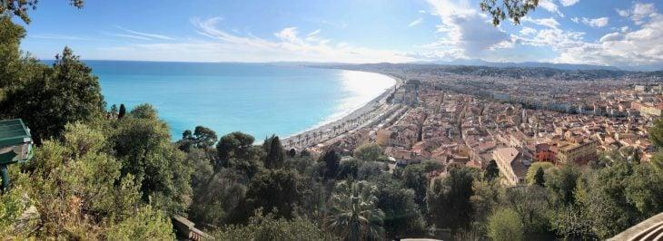 Ranskan Riviera nähtävää, Nizza, panorama linnakukkulalta, kokemuksia
