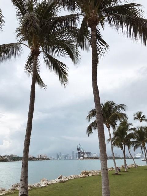 Miami beach nahtavaa rannalta Miamiin