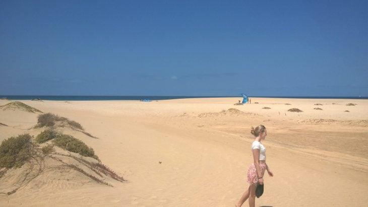 Kap Verde, Santa Maria hiekkadyynejä ja rantaa