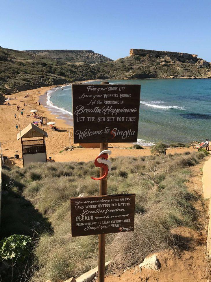 Malta kokemuksia, sää: Ghajn Tuffieha Bay, hiekkaranta